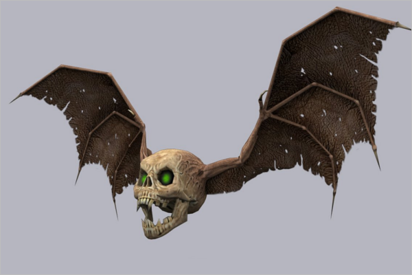 Skull 3D Tattoo Design