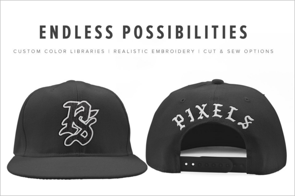 Snapback Mockup For Basketball