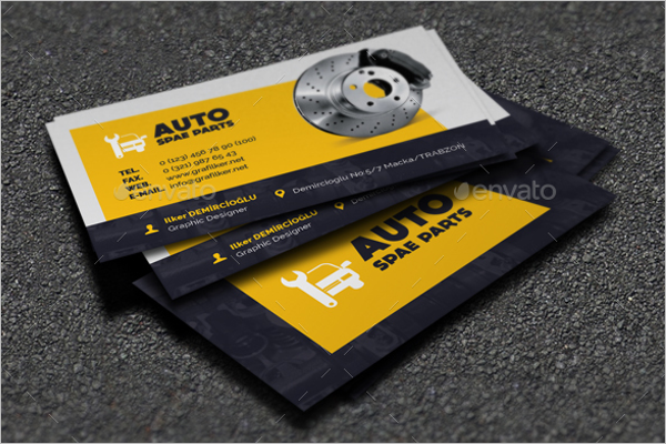 Spare Part Business Card Template