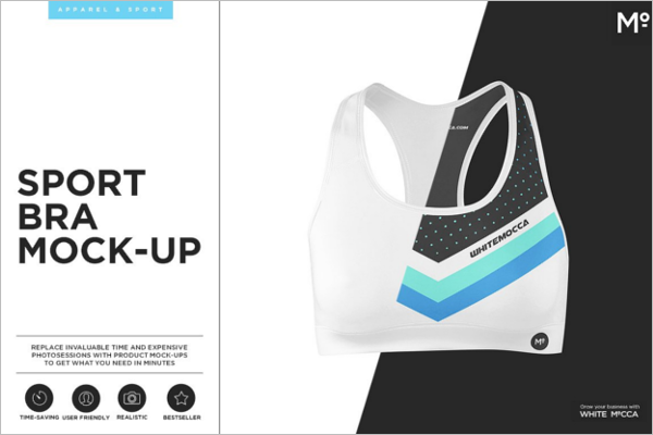 Sports Bra Mockup PSD Template