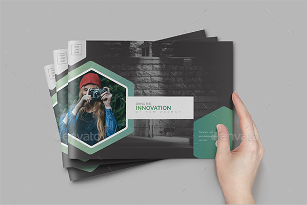 Square A4 Brochure Design