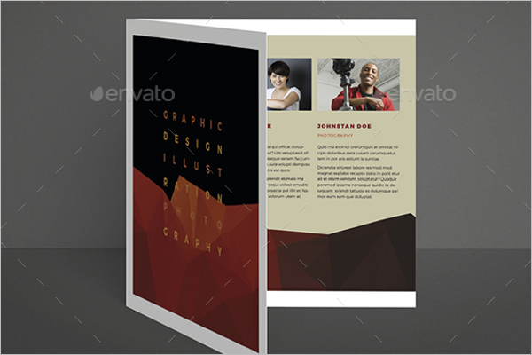 Square Bi-Fold Exhibition Brochure Template