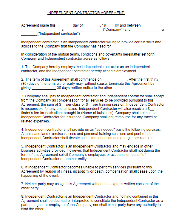 15 Free Subcontractor Agreement Templates Word PDF Doc