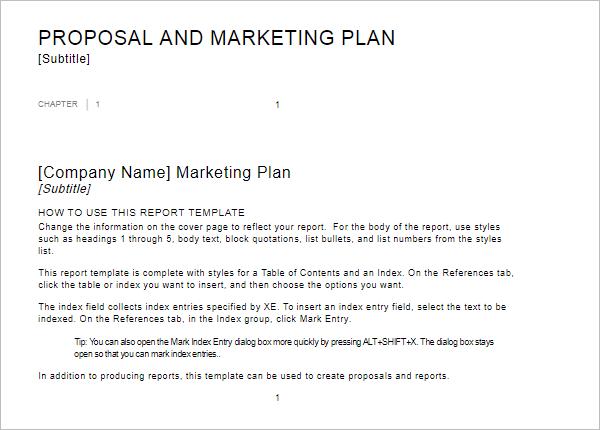Summary Report Design Template