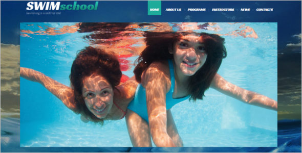 Swimming School Joomla Template