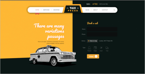 Taxi Vintage HTML5 Template