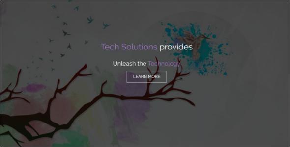 Tech Support Website Template