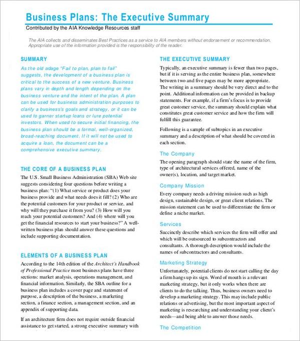 Technical Executive Summary Template