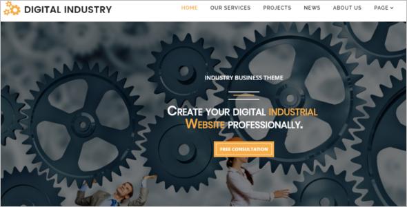 Textile Company Website Template