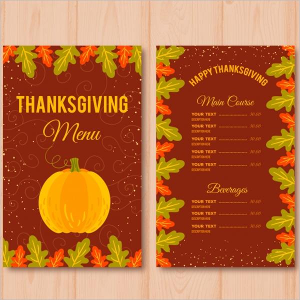 ThanksgivingMenu Design