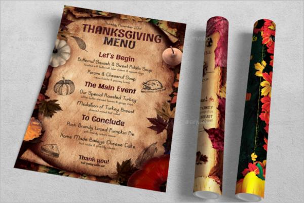 Thanksgiving Menu Template Bundle