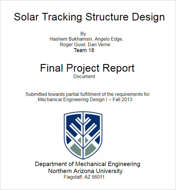 TrackingProject Report Template