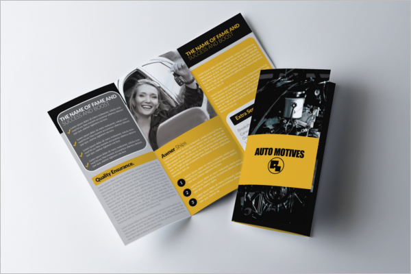 Training Brochure Template PSD