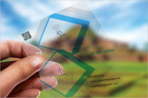 Transparent Visiting Cards Mockup Template