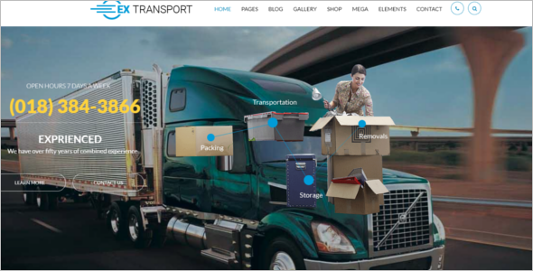 Transport Delivery HTML5 Template