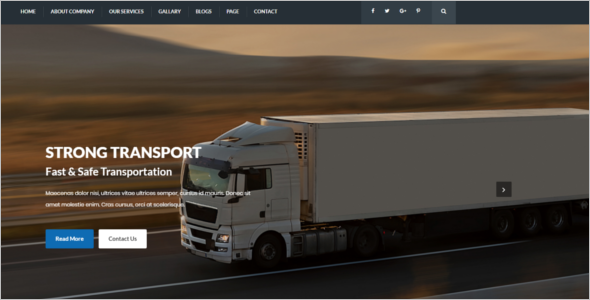 Transport Services HTML5 Template