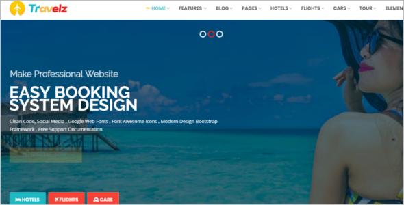 Travel Website HTML Template