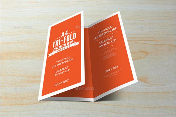 Tri-Fold Leaflet brochure Mockup