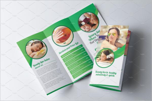 Trifold Beauty Brochure Template