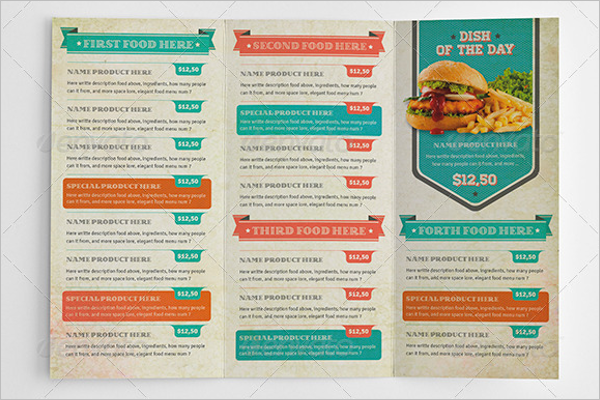 Trifold Menu Card Template