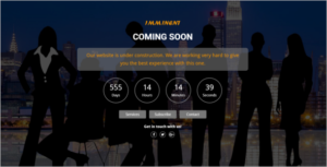 Under Construction Coming Soon HTML Template
