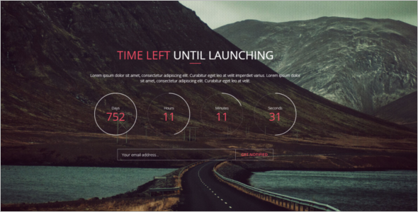 Unique Coming Soon HTML5 Template