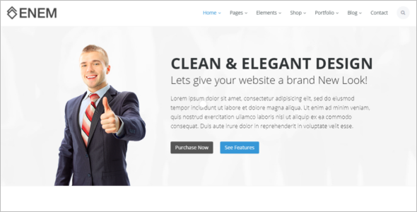 Unique HTML5 Website Template