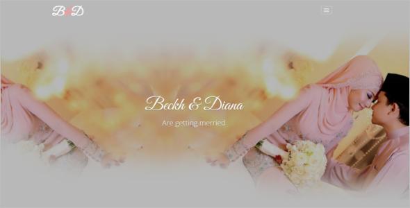 Unique HTML5 Wedding Template