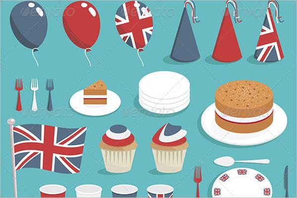 United Kingdom Party Decorations Idea
