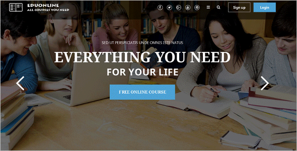 University Education Joomla Template