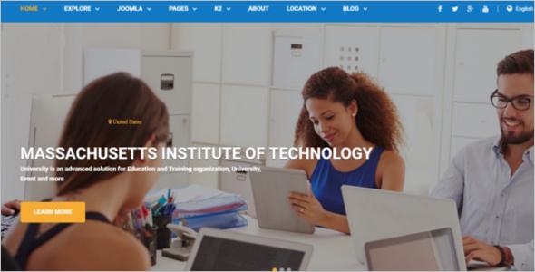 University Joomla Website Theme