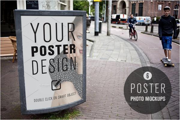 Poster On road Mockup Design