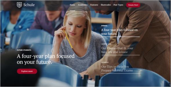 University & Education HTML5 Template