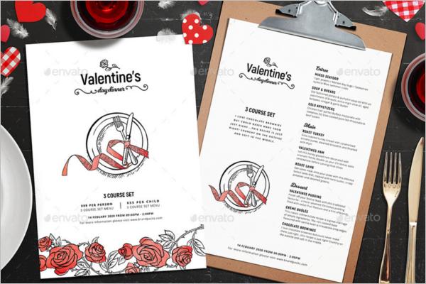 Valentines Menu Design