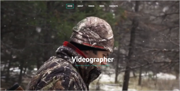 Videograpgher HTML5 Template