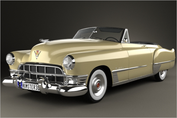 Vintage Car 3D Design