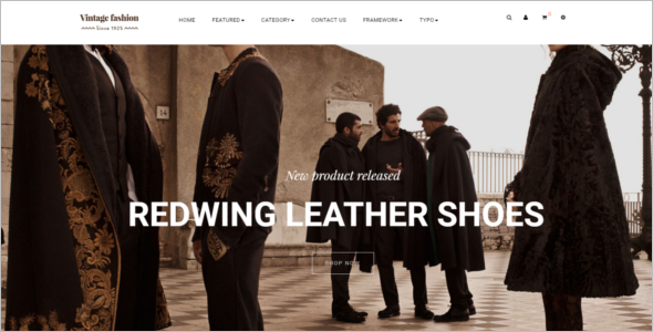 Vintage Fashion HTML5 Templates