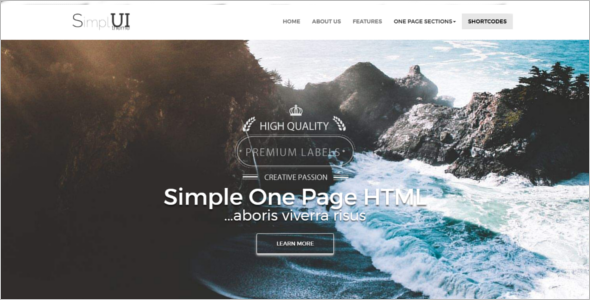 Vintage HTML5 Bootstrap Template