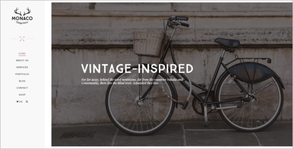 Vintage Multi Concept HTML Template