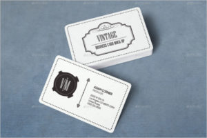 Vintage Visiting Cards Mockup Template