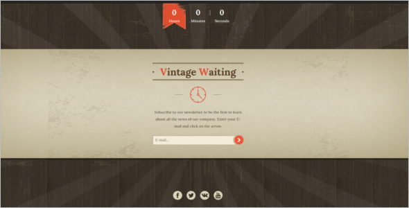 Vintage Waiting HTML5 Template