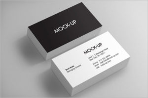 Visiting Cards Mockup Image