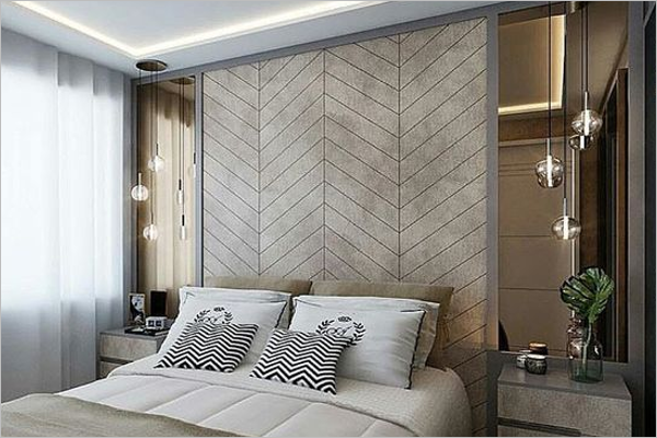 Wall Texture Design For Bedroom