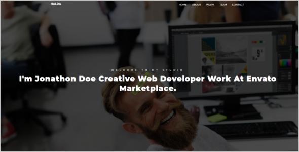 Web Design Template PSD