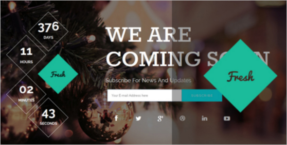 Website Coming Soon HTML Template