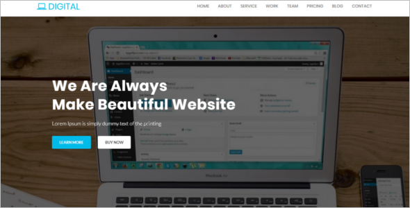 Website Template For IT Company