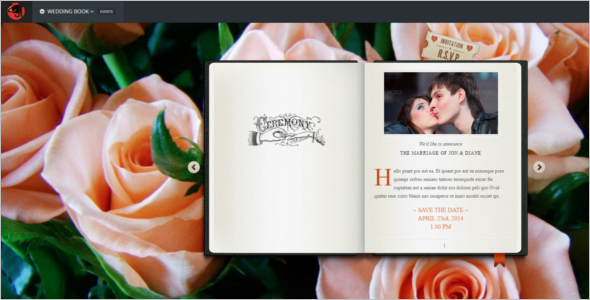 Wedding Book HTML5 Template