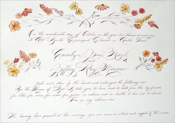 Wedding Certificate Design