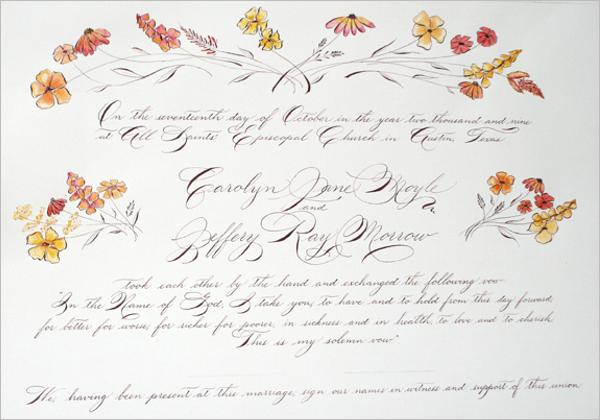 Wedding Certificate Design