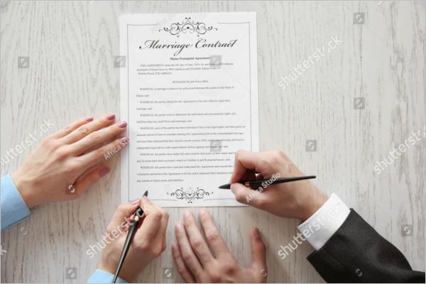 WeddingContract Template